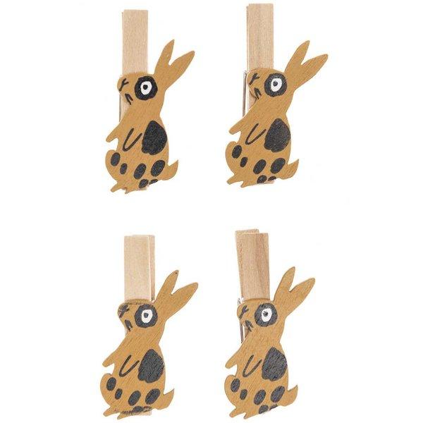 Ohhh! Lovely! Dekoklammern Hase braun 4 Stück