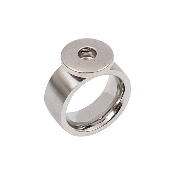 Rico Design Ring bombiert Edelstahl 18mm