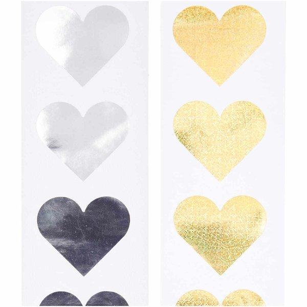 Paper Poetry Sticker Herzen 5cm 120 Stück auf der Rolle Hot Foil