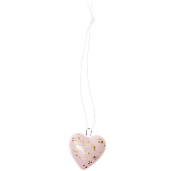 Ohhh! Lovely! Porzellanhänger Herz rosa-gold