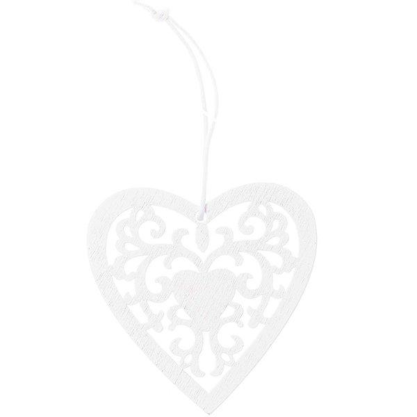 Ohhh! Lovely! Holzhänger Herz Ornament M weiß