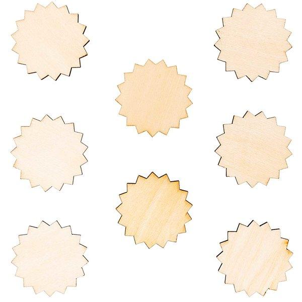 Rico Design Holzdeko-Set Rosette 8teilig