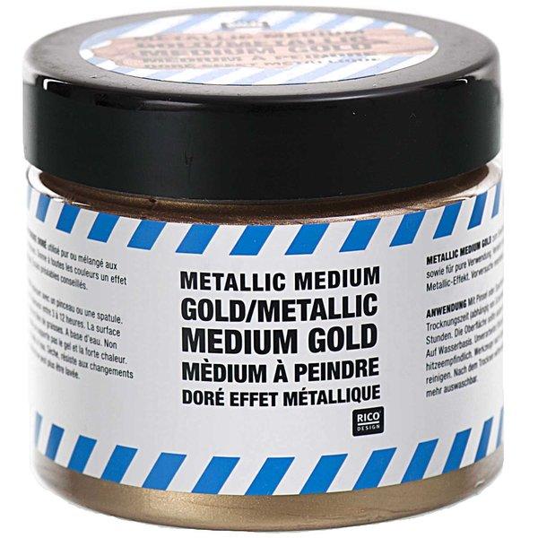 Rico Design Metallic Medium gold 187g
