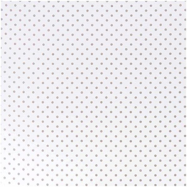 Rico Design Stoff Punkte klein weiß-grau 50x140cm