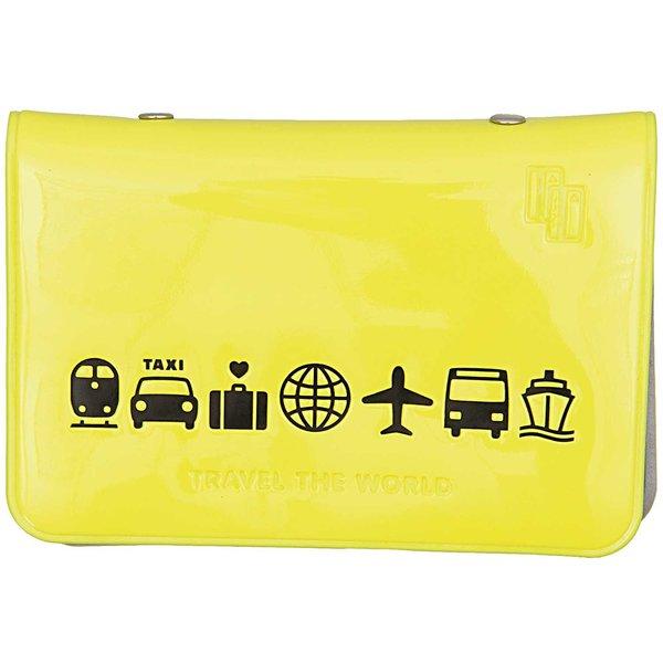 Made by Me Visitenkarten Tasche gelb 7,5x10,5cm