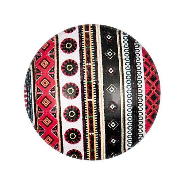Jewellery Made by Me Cabochon Streifen rot-schwarz-weiß 25mm Glas