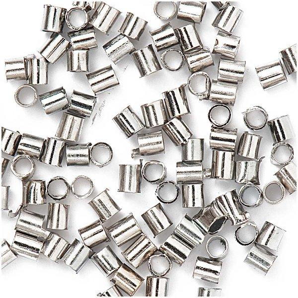 Jewellery Made by Me Röhrchen zum Quetschen silber 1,2mm 100 Stück