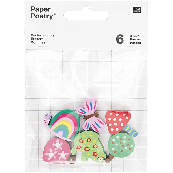 Paper Poetry Radiergummis Waldtiere 6 Stück