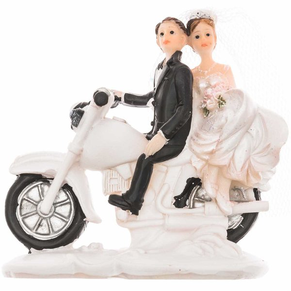 Brautpaar auf Motorrad 8cm