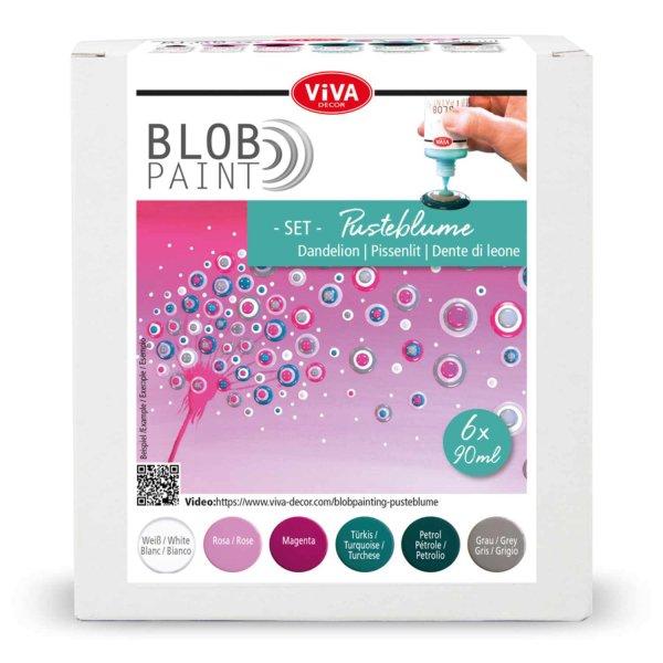 Viva Decor Blob Paint Set Pusteblume 6x90ml