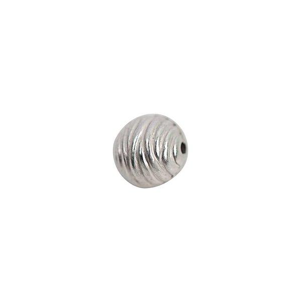 Rico Design Kugel Welle silber 10mm 30 Stück