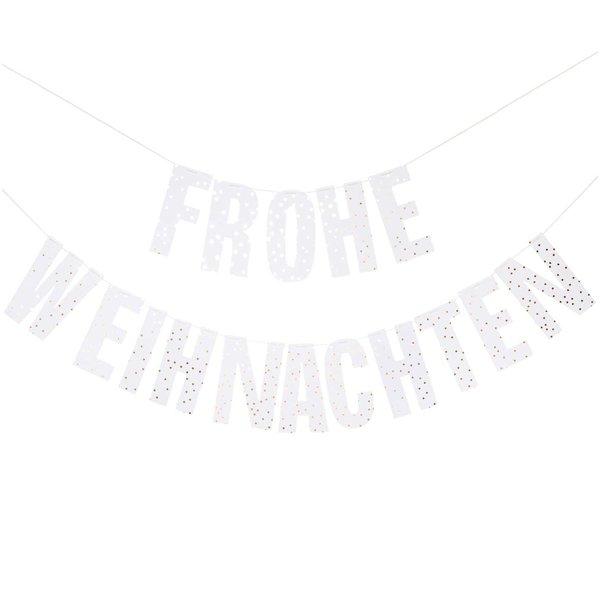 Paper Poetry Girlande Frohe Weihnachten 3m Hot Foil