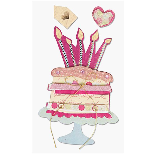 Paper Poetry 3D Sticker Torte