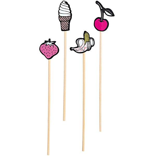 YEY! Let's Party Picker Mix Eistüte-Früchte 15cm 24 Stück