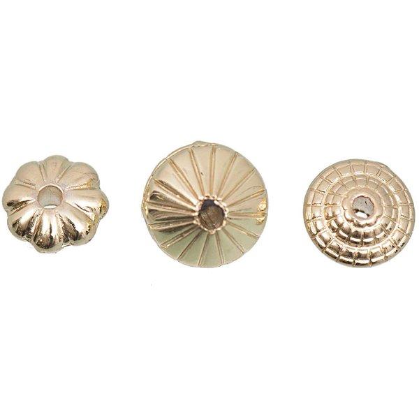 Jewellery Made by Me Perle gold 3 versch. Designs 15 Stück
