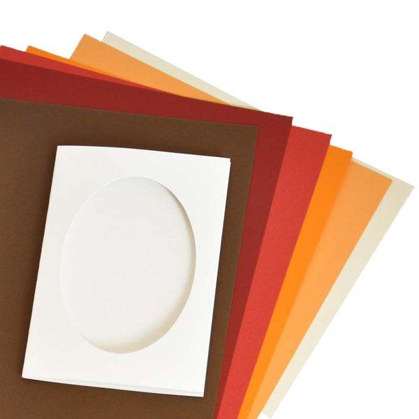 Marpa Jansen Passepartoutkarten oval mit Kuverts A6 5 Stück