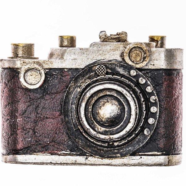 Kamera Nostalgie braun-silber 5x3,5cm