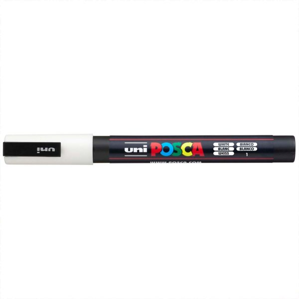 uni POSCA-Marker PC-3M weiß 0,9-1,3mm