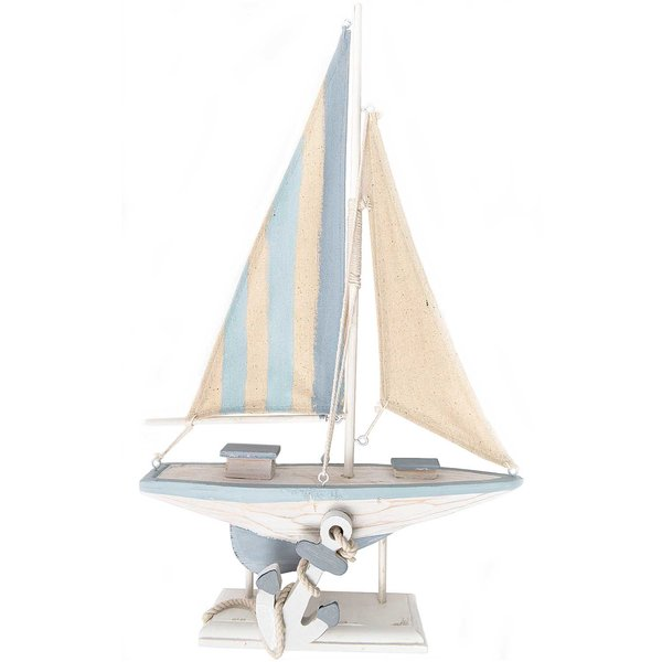 Seegelboot blau 41,5x24,5cm
