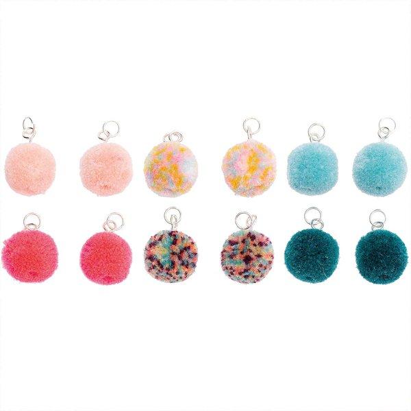 Jewellery Made by Me Mini-Pompons mit Öse 1,5cm 4 Stück