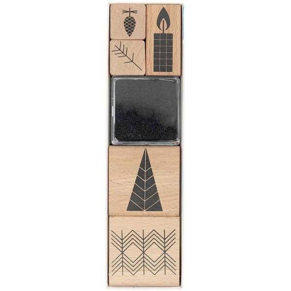 Paper Poetry Stempelset Christmas is in the air grafisch 6 Stempel