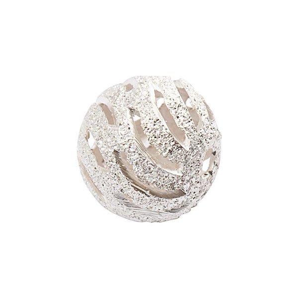 Jewellery Made by Me Metallkugel geriffelt silber 18mm 5 Stück