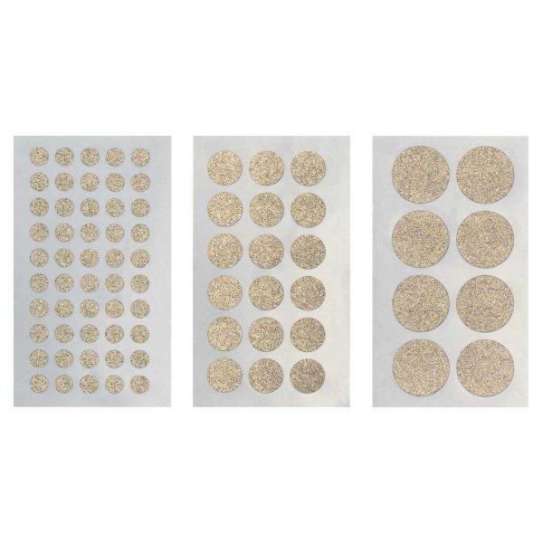 Paper Poetry Sticker Kreise Glitter gold 4 Blatt