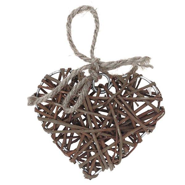 3D-Herz zum Hängen Weide natur 10cm
