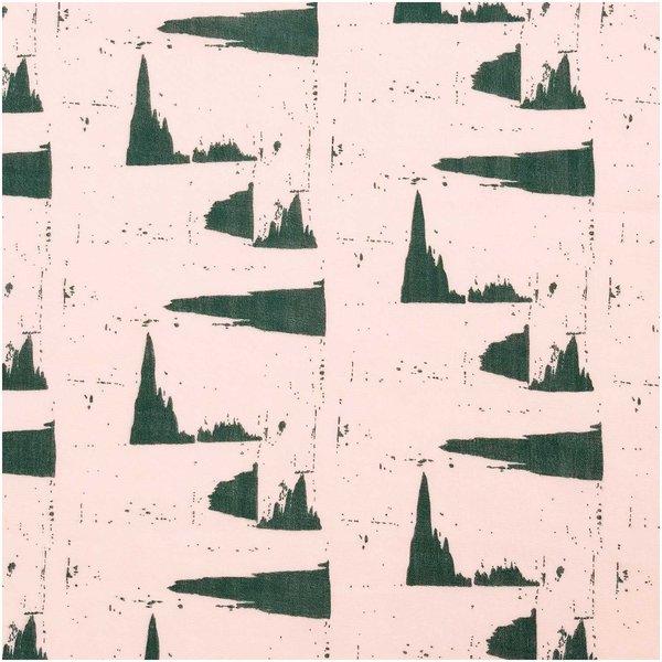 Rico Design Musselin-Druckstoff Nature Matters Muster puder-grün 140cm