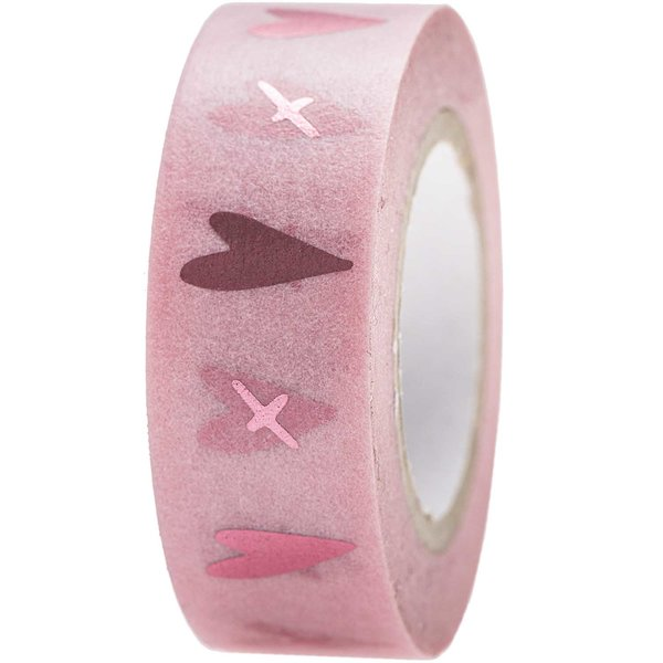 Paper Poetry Tape It must be love Herzen rosa 1,5cm 10m
