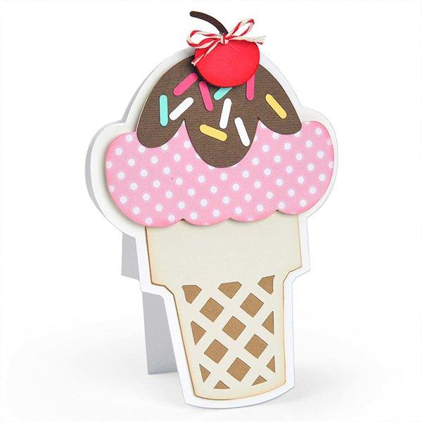 Sizzix Framelits Die Ice Cream by Stephanie Barnard