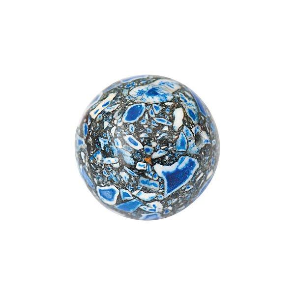 Jewellery Made by Me Kugel blau marmoriert 16mm Halbedelstein 2 Stück