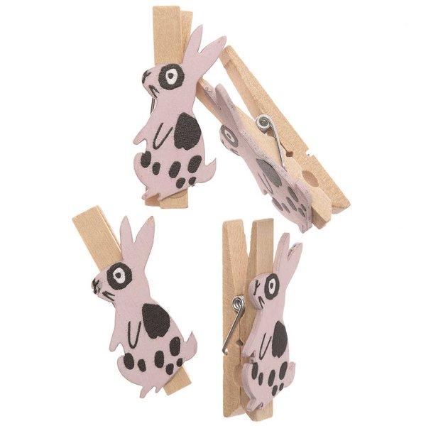 Ohhh! Lovely! Dekoklammern Hase rosa 4 Stück