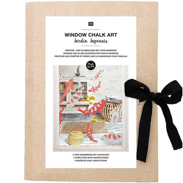 Rico Design Vorlagenmappe Fenster- und Glasmalerei mit Kreidestiften Jardin Japonais