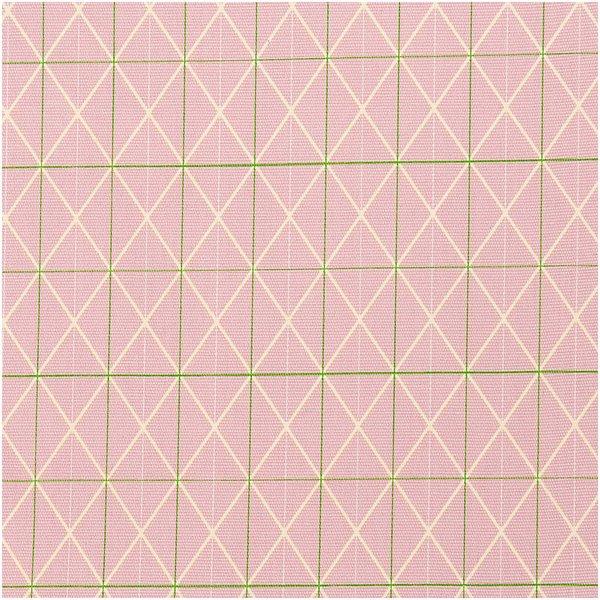 Rico Design Druckstoff Canvas Raster rosa 50x140cm