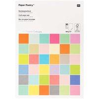 Paper Poetry Bastelblock Super Pastel Colours A4 180g/m² 30 Blatt