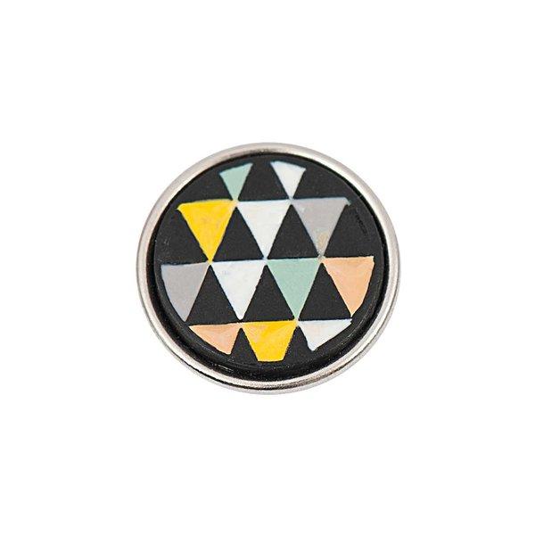 Rico Design Knopf Dreiecke mehrfarbig pastell 14mm