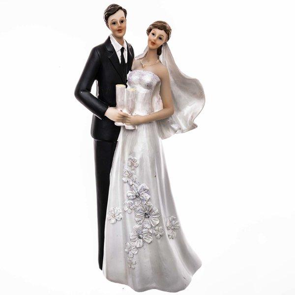 Brautpaar mit Sektgläser 21cm