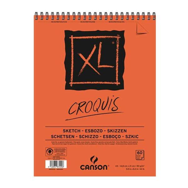 Canson XL Spiralblock Croquis A5 60 Blatt