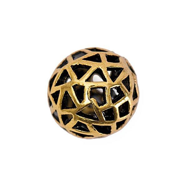 Jewellery Made by Me Metallkugel mit Loch altgold 14mm 3 Stück