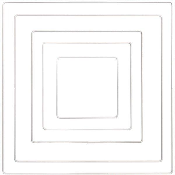 Rico Design Metallring Quadrat weiß