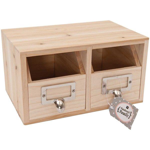 Rico Design Aufbewahrungsbox mit Fächern 22x14x12cm