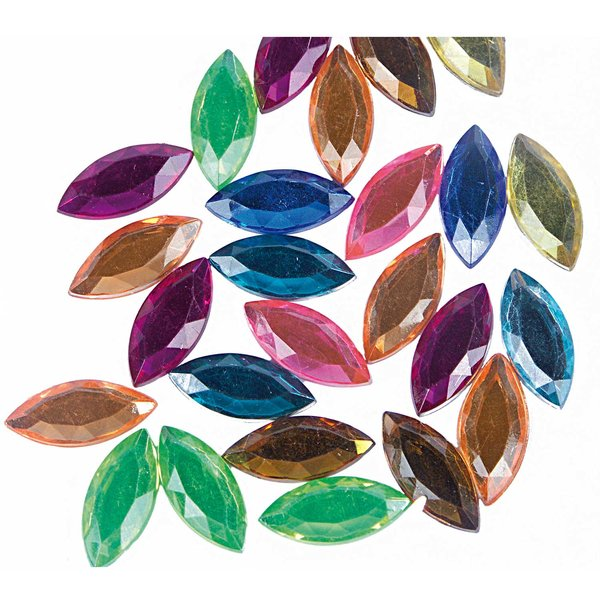 Rico Design Strass Blätter mehrfarbig 100 Stück