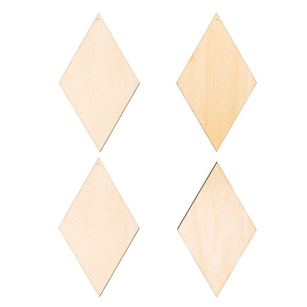 Rico Design Holzdekoanhänger-Set Diamant 4teilig