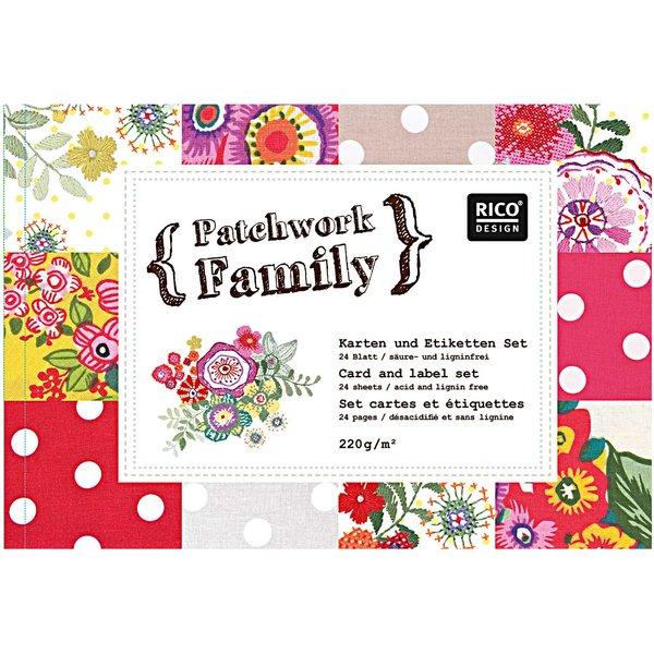 Rico Design Karten- & Etiketten Set Nr. 3 6 Designs 24teilig