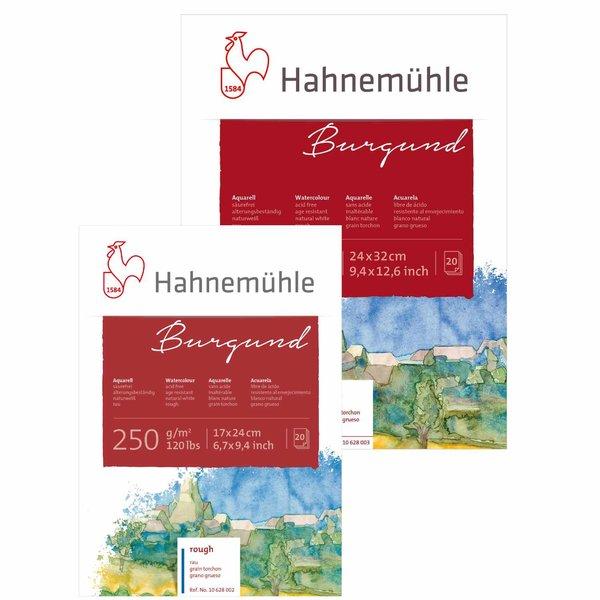 Hahnemühle Aquarellblock Burgund rau 20 Blatt