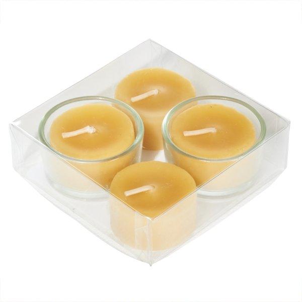 Kopschitz Bienenwachs-Teelichter 4 Stück