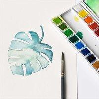 Anleitung Monstera-Blatt aquarellieren