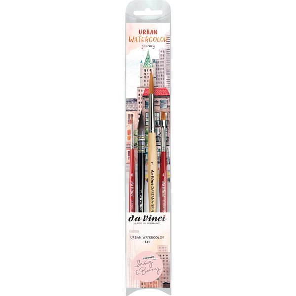 da Vinci May & Berry Pinsel-Set Urban Watercolor