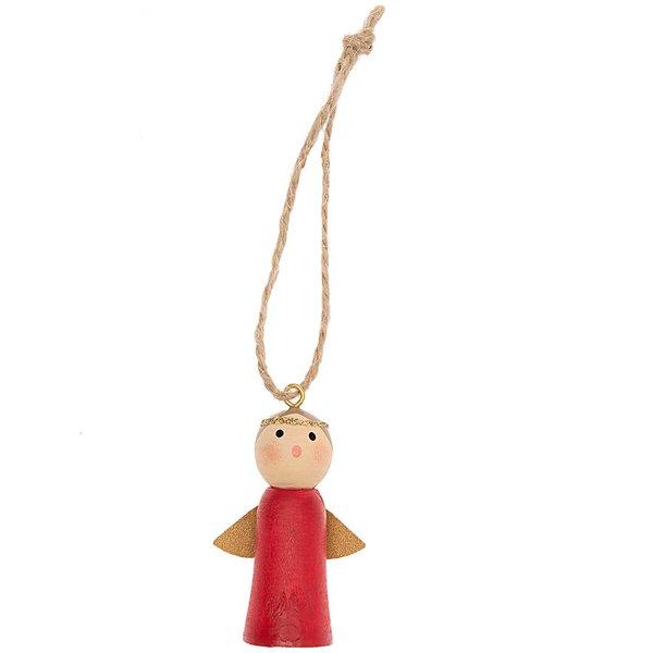 Ohhh! Lovely! Holzhänger Engel rot 5cm